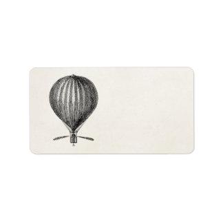 Vintage Hot Air Balloon Retro Airship Balloons Label