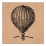 Vintage Hot Air Balloon Retro Airship Old Balloons Card