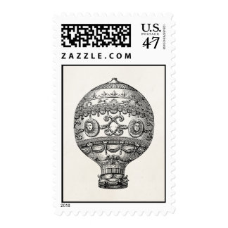 Vintage Hot Air Balloon Retro Airship Old Balloons Postage