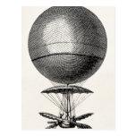 Vintage Hot Air Balloon Retro Airship Old Balloons Postcard