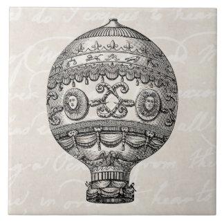 Vintage Hot Air Balloon Retro Airship Old Balloons Tile