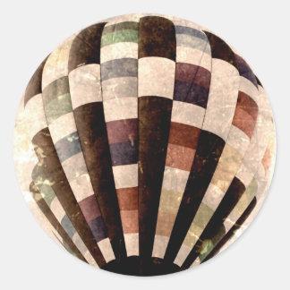 Vintage Hot air balloon sticker