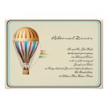 Vintage Hot Air Balloon Wedding Rehearsal Personalized Announcement