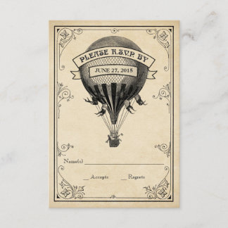 Vintage Hot Air Balloon Wedding RSVP