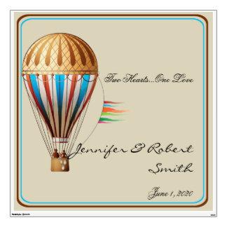 Vintage Hot air Balloon Wedding Wall Cling Wall Decal