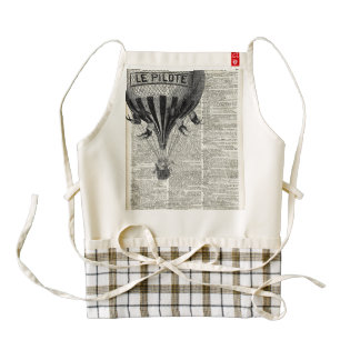 Vintage Hot Air Balloon Zazzle HEART Apron