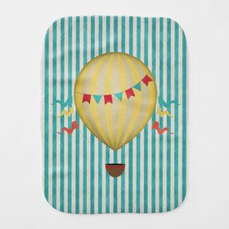Vintage Hot Air Balloon Burp Cloths