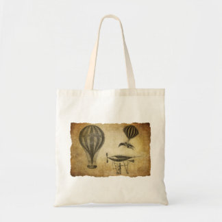Vintage Hot Air Balloons and Dirigibles Canvas Bags