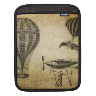 Vintage Hot Air Balloons and Dirigibles iPad Sleeves
