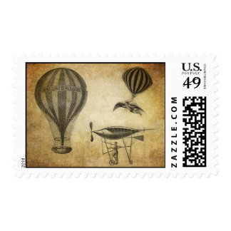 Vintage Hot Air Balloons and Dirigibles Postage