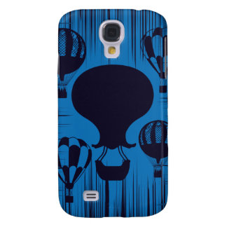 Vintage Hot Air Balloons Distressed Grunge Blue Galaxy S4 Cover