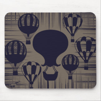 Vintage Hot Air Balloons Distressed Grunge Mouse Pad