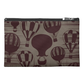 Vintage Hot Air Balloons Grunge Brown Maroon Travel Accessory Bags