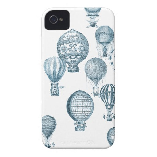 Vintage Hot Air Balloons in Flight iPhone Case iPhone 4 Case-Mate Cases
