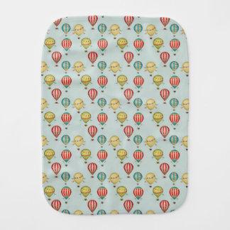 Vintage Hot Air Balloons Baby Burp Cloth