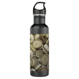 Vintage Hot and Cold Porcelain Knobs Stainless Steel Water Bottle