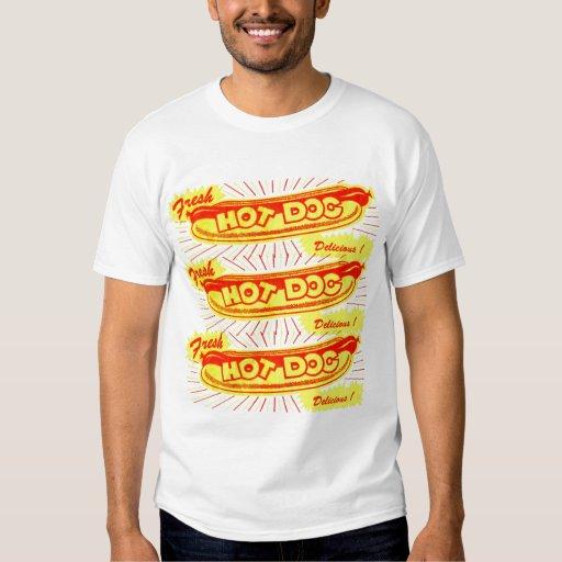 Vintage Hot Dog Wrapper Art Kitsch T-shirt