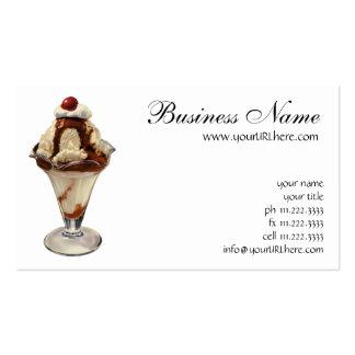 Vintage Hot Fudge Ice Cream Sundae Desserts Business Card
