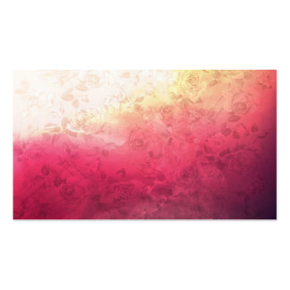 Vintage Hot Pink Grunge Floral Multicolor Pattern Business Card Templates