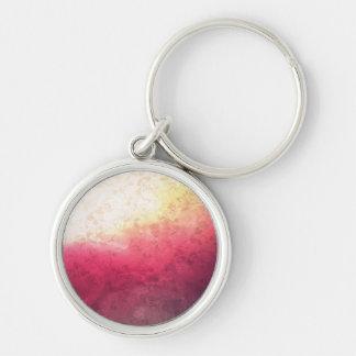 Vintage Hot Pink Grunge Floral Multicolor Pattern Keychain