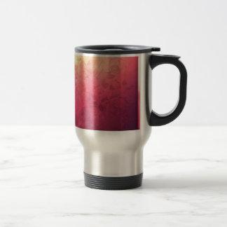 Vintage Hot Pink Grunge Floral Multicolor Pattern Travel Mug