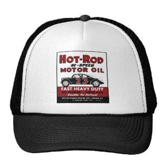 Vintage Hot-Rod Motor Oil tin can design Trucker Hat