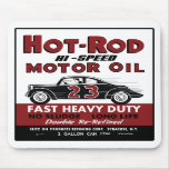 Vintage Hot-Rod Motor Oil tin can design Mousepad