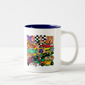 Vintage Hot Rod T-shirts and Gifts Two-Tone Coffee Mug