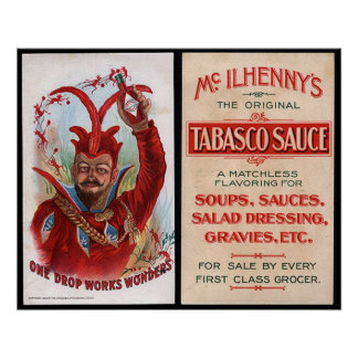 Vintage Hot Sauce Advertisement Print