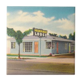 Vintage Hotel, Golden West Lodge Motel Ceramic Tile
