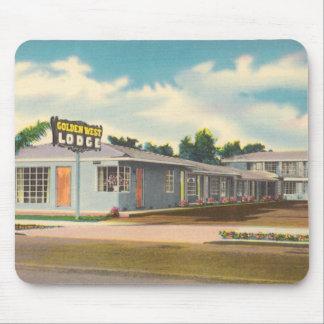 Vintage Hotel, Golden West Lodge Motel Mouse Pad