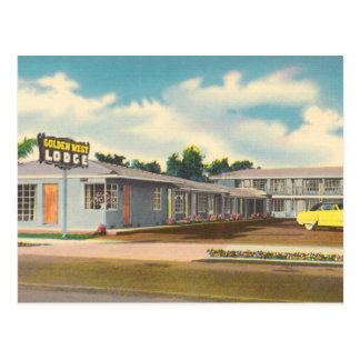 Vintage Hotel, Golden West Lodge Motel Postcard