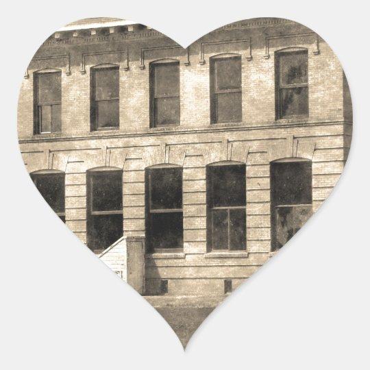 Vintage Hotel Heart Sticker
