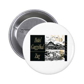 Vintage Hotel Label Art Buttons