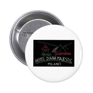 Vintage Hotel Milano Label Pinback Buttons