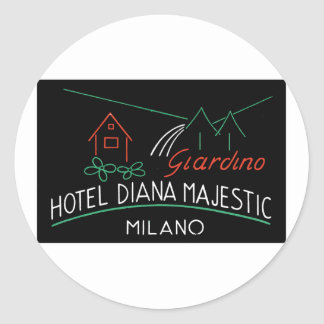 Vintage Hotel Milano Label Stickers
