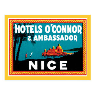 Vintage Hotel O'connor & Ambassador Nice Postcard