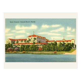 Vintage Hotel Ormond Florida Beach Postcard