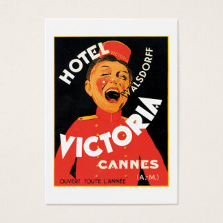 Vintage Hotel Poster Business Card