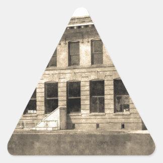 Vintage Hotel Triangle Sticker