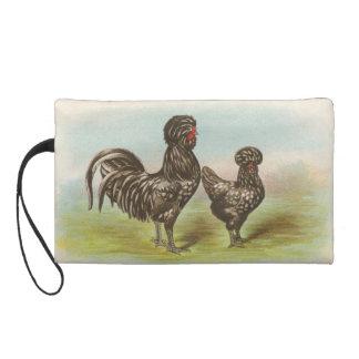 """Vintage """"Houdan Roosters"""" Bagettes Bag"""