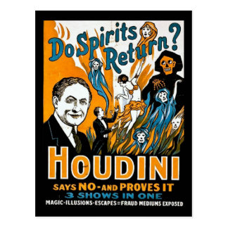 Vintage Houdini Advertisement - Do Spirits Return? Postcard