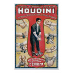 Vintage Houdini Handcuff King Advertising Poster