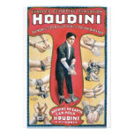 Vintage Houdini Handcuff King Advertising Poster Custom Invite