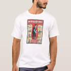 Vintage Houdini Handcuff King Advertising Poster T-Shirt