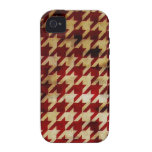 Vintage Houndstooth Case-Mate iPhone 4 Carcasa