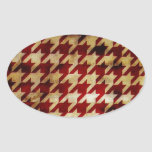 Vintage Houndstooth Colcomanias Oval