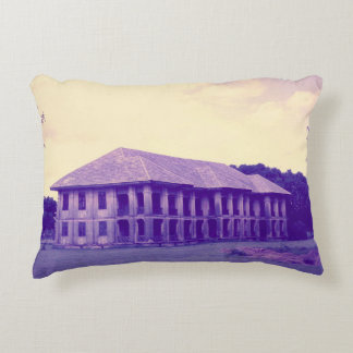Vintage House Print Pillow