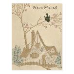 Vintage House We've Moved Post Card