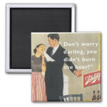 vintage housewife 2 inch square magnet